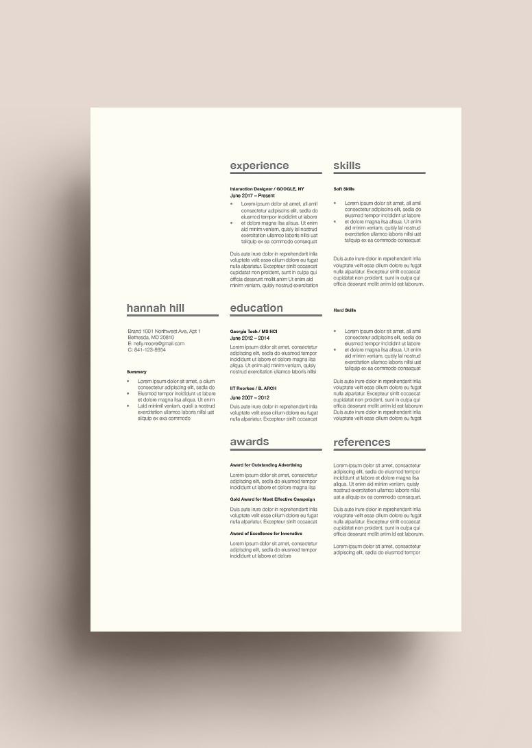 Classic Resume Template 120360