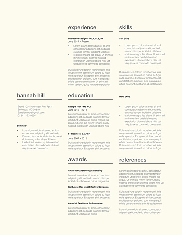 Classic Resume Template 120360