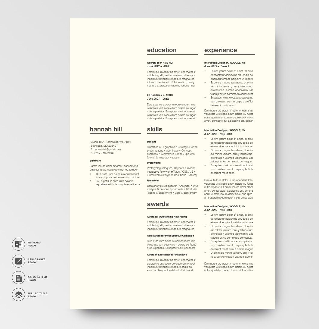 Classic Resume Template 120360 4
