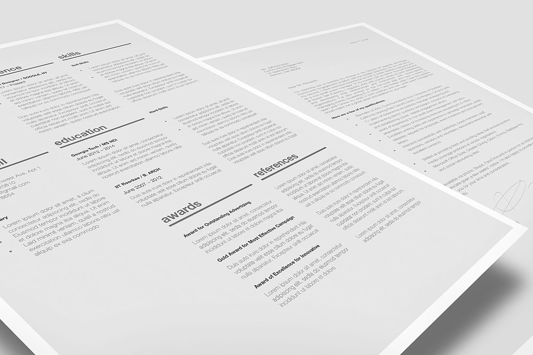 Classic Resume Template 120370 0