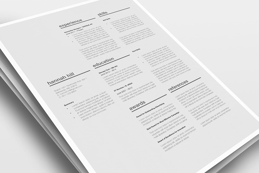Classic Resume Template 120370 2