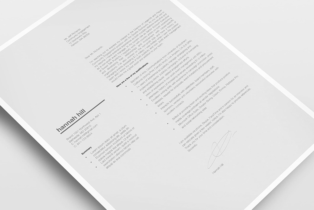 Classic Resume Template 120370 3