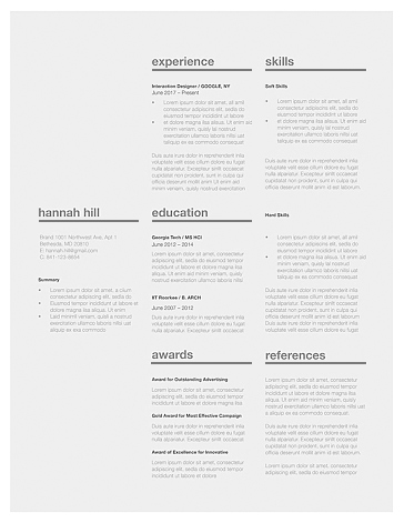 Classic Resume Template 120370