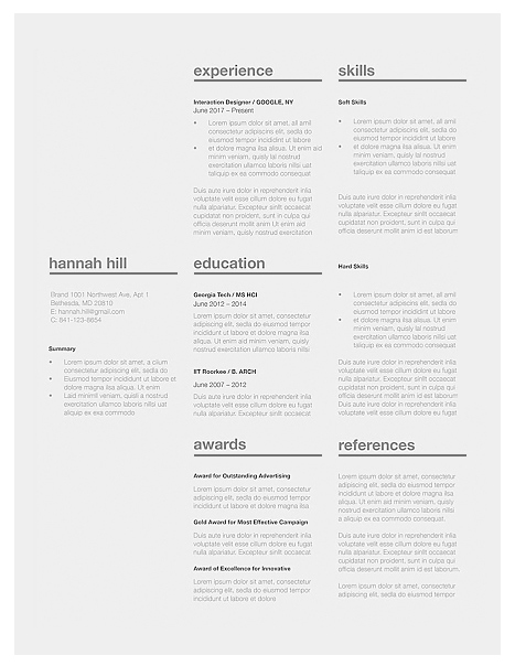 Classic Resume Template 120370