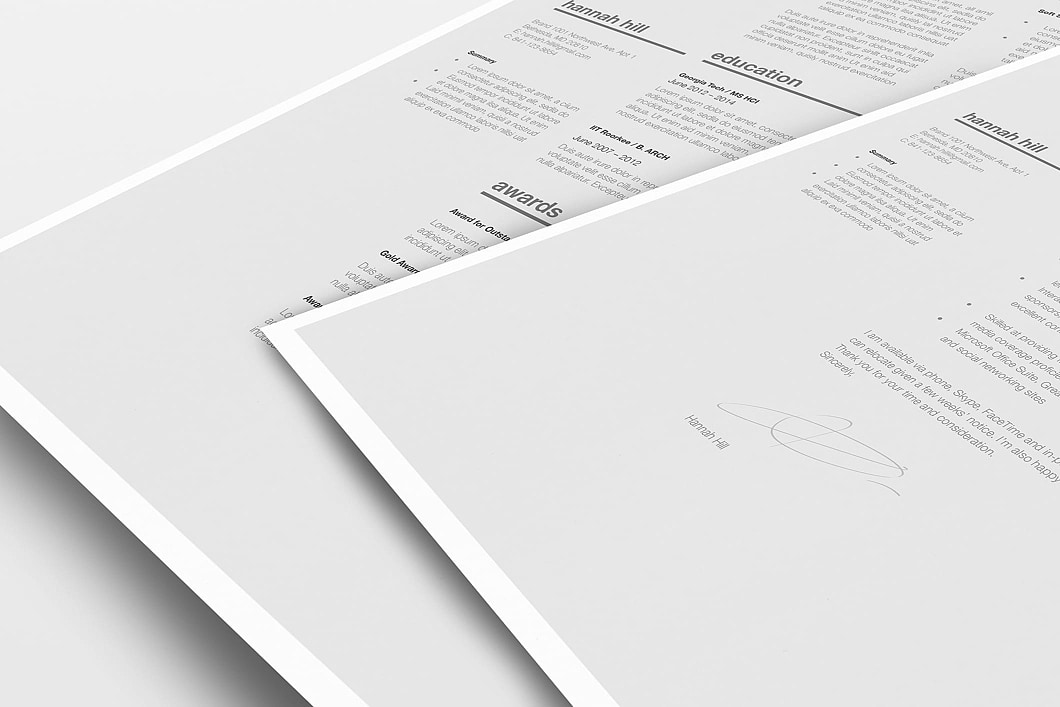 Classic Resume Template 120370 5