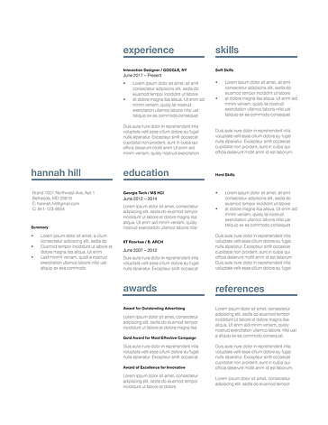 Classic Resume Template 120380