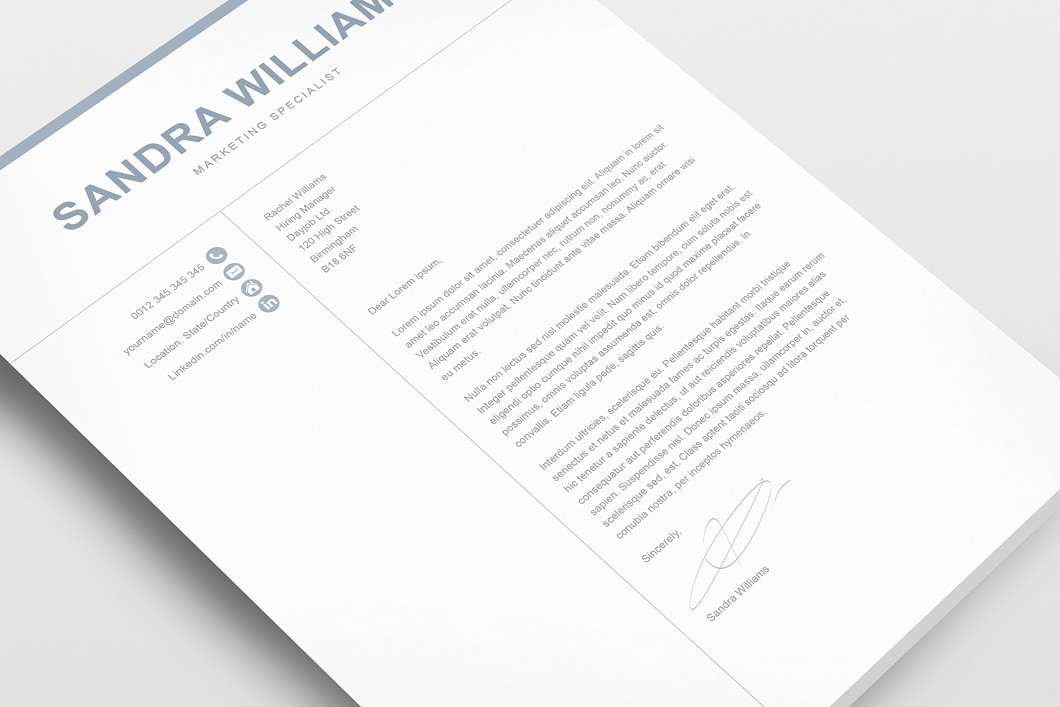 Classic Resume Template 120550 2