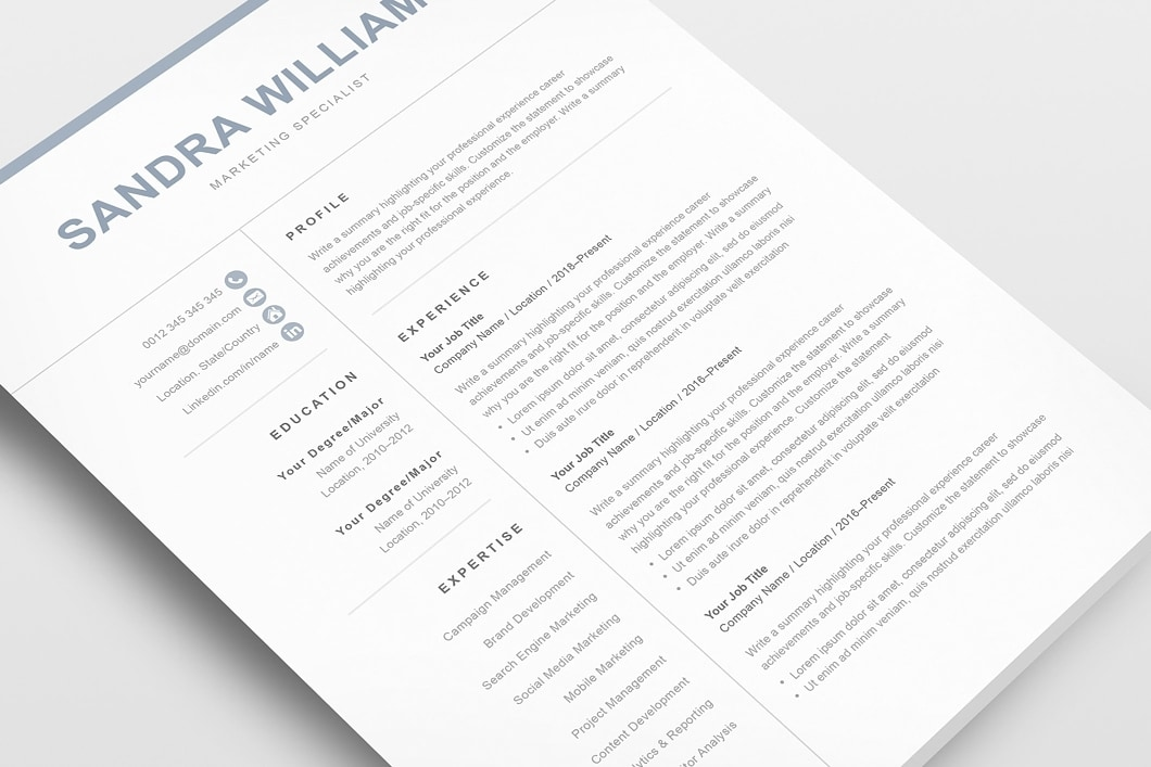 Classic Resume Template 120550 3