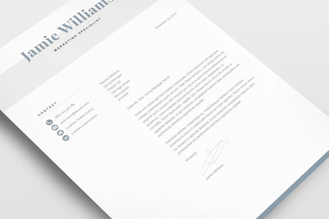 Classic Resume Template 120600 4