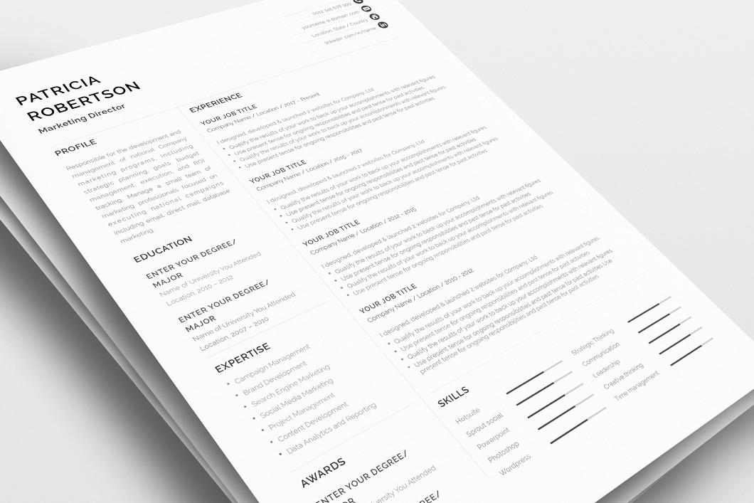 Classic Resume Template 120670 3