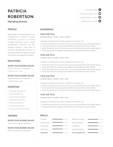 Classic Resume Template 120670