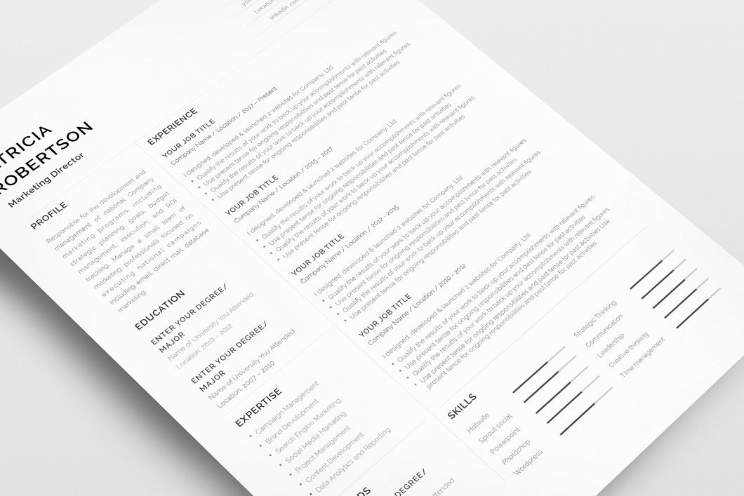 Classic Resume Template 120670 6