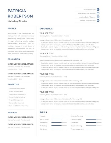 Classic Resume Template 120680