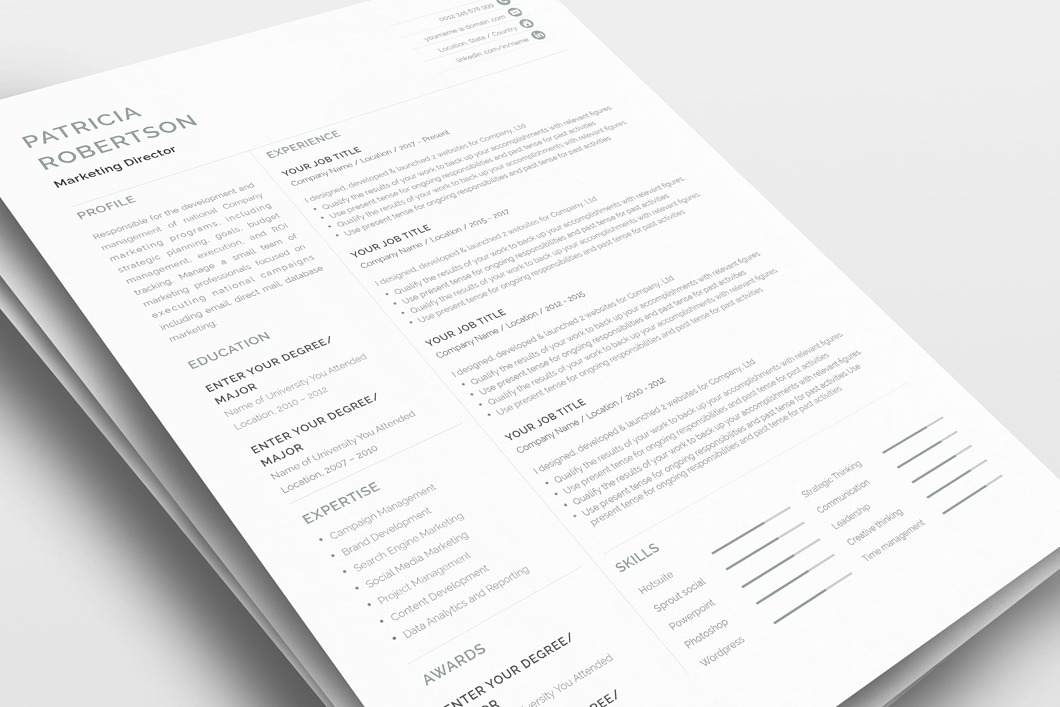 Classic Resume Template 120690 2