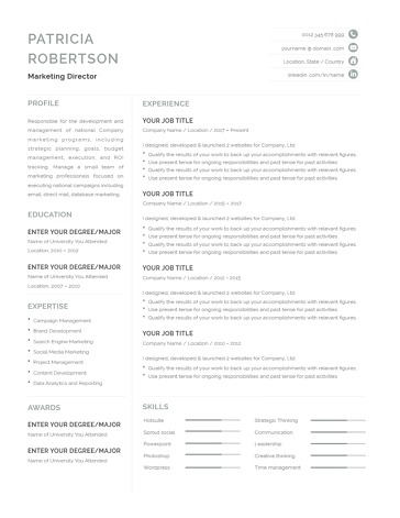 Classic Resume Template 120690