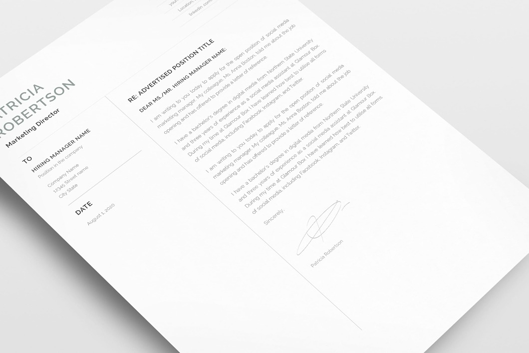 Classic Resume Template 120690 4