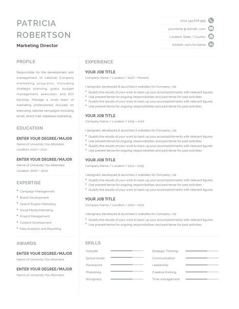 Classic Resume Template 120690
