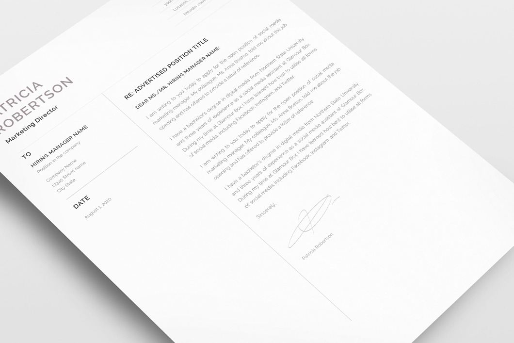 Classic Resume Template 120700 6