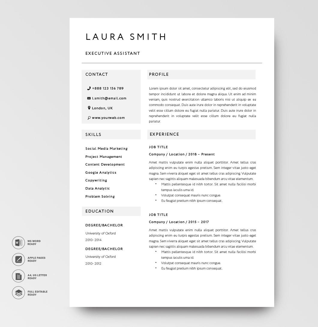 Classic Resume Template 120790 Grey