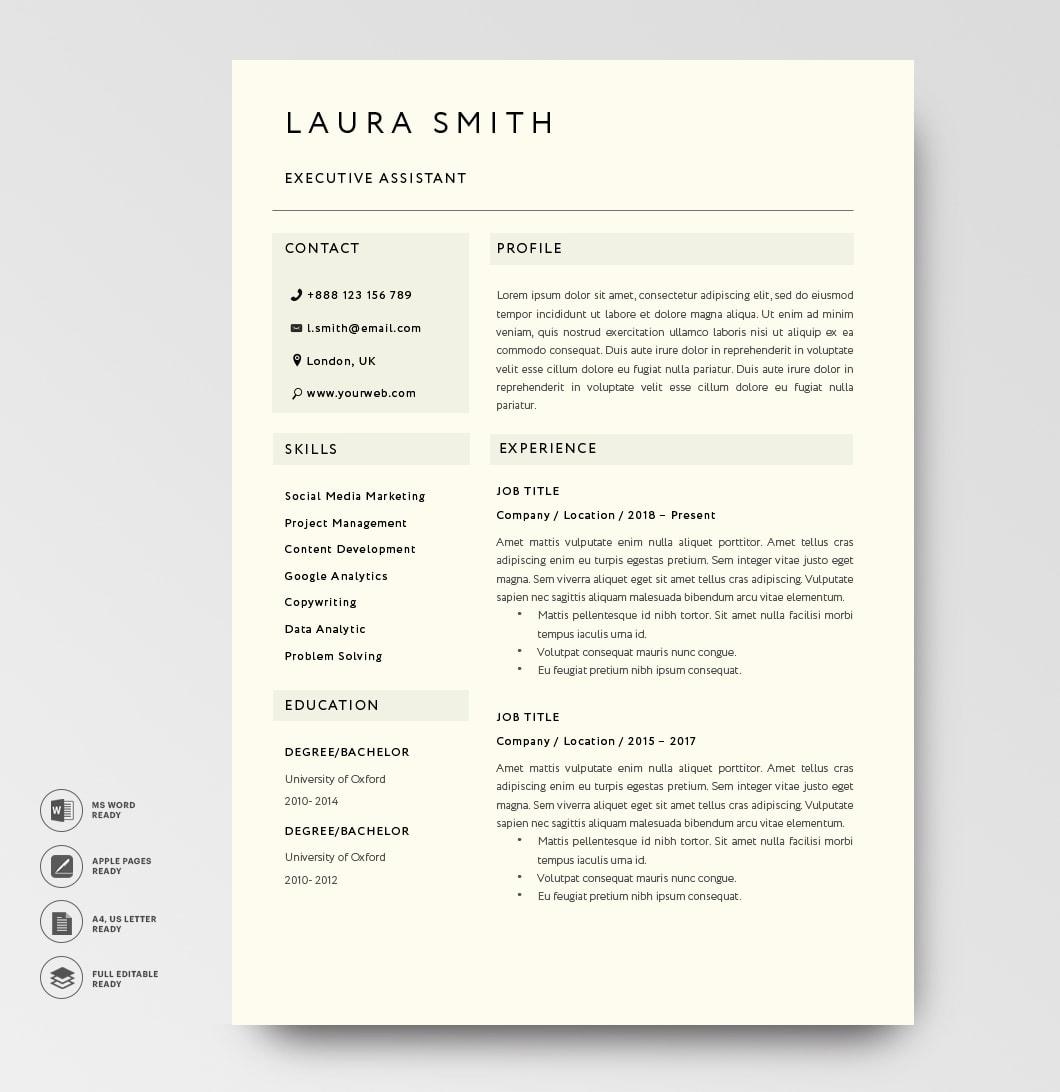 Classic Resume Template 120800 Black