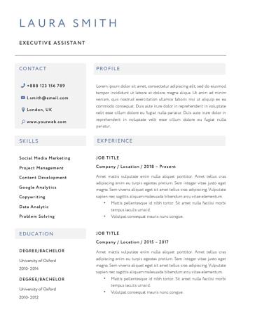 Classic Resume Template 120810