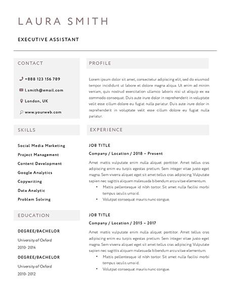 Classic Resume Template 120820