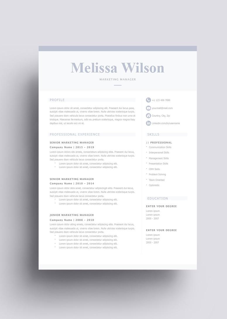 Classic Resume Template 123320