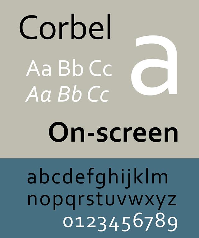 Resume Fonts 2020 - Corbel Font