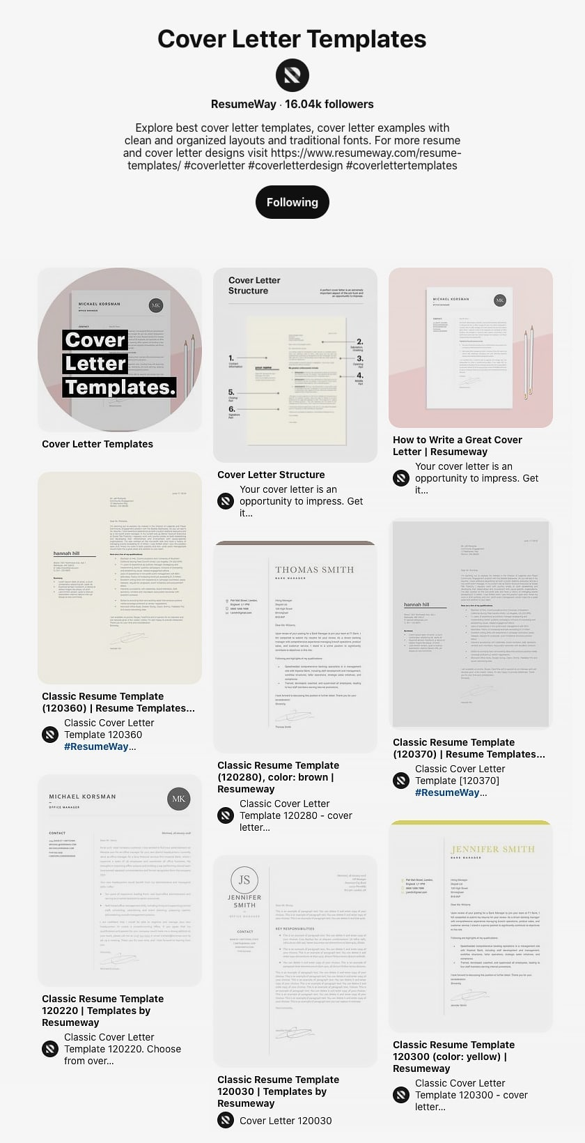 Cover Leter Templates