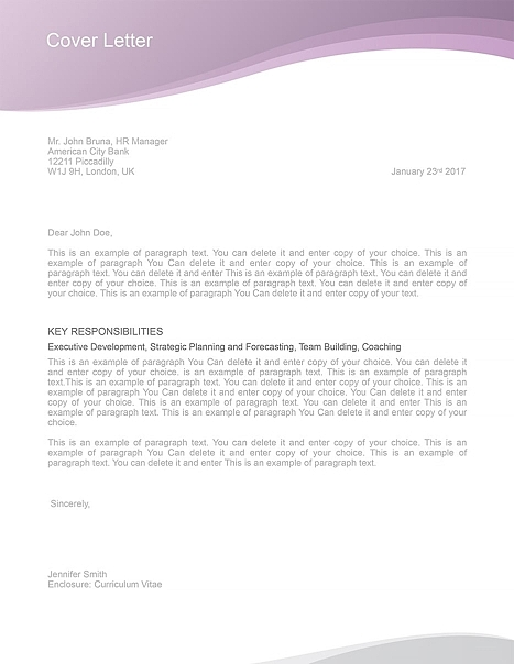 Cover Letter 106030