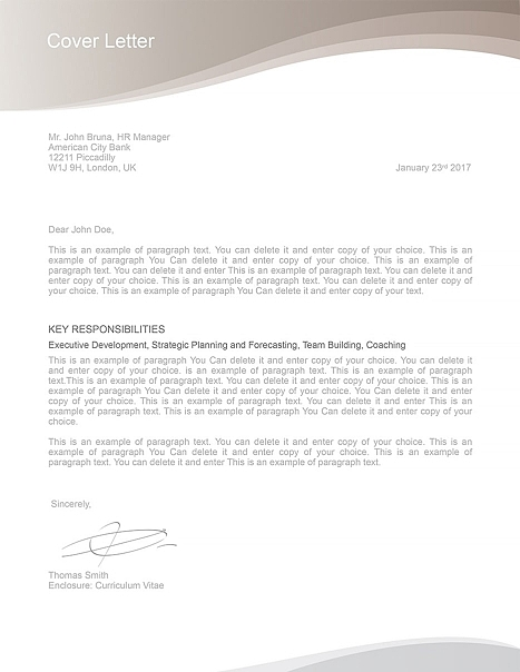 Cover Letter 106060