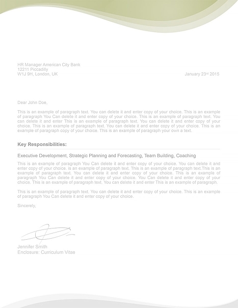 Cover Letter 107050