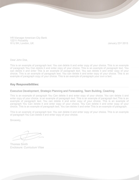 Cover Letter 107060