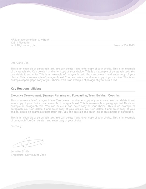 Cover Letter 107070