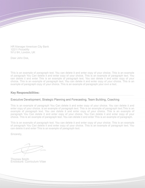Cover Letter 108050