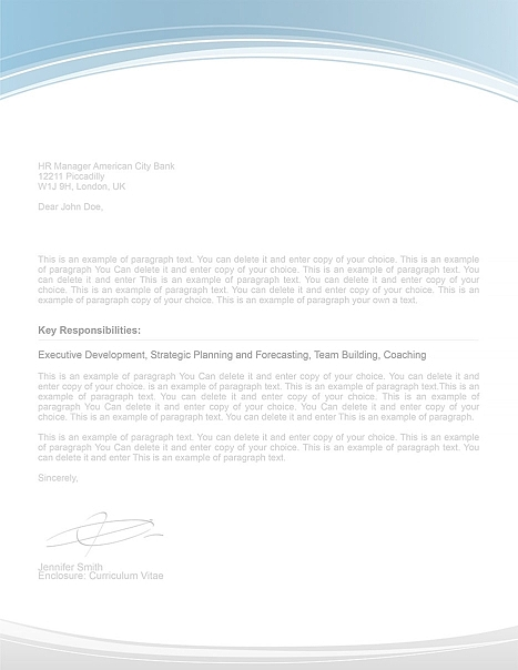 Cover Letter 108060