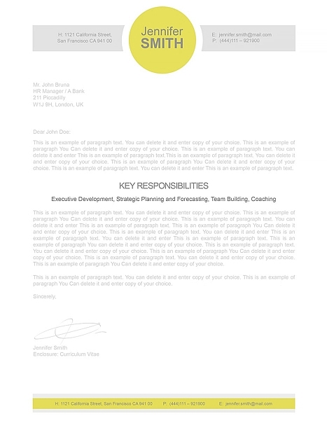Cover Letter 110340