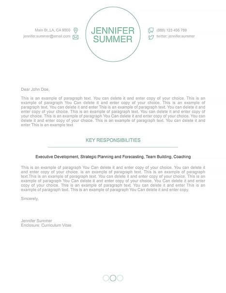 Cover Letter 110390