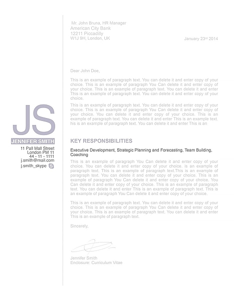 Cover Letter 110520