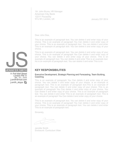 Cover Letter 110540