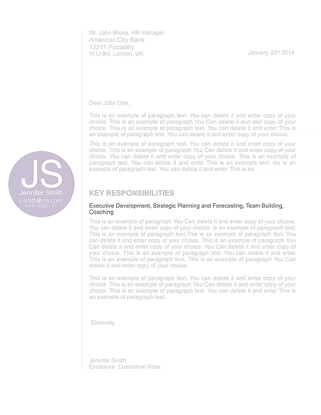 Cover Letter 110550