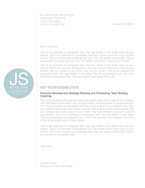 Cover Letter 110560