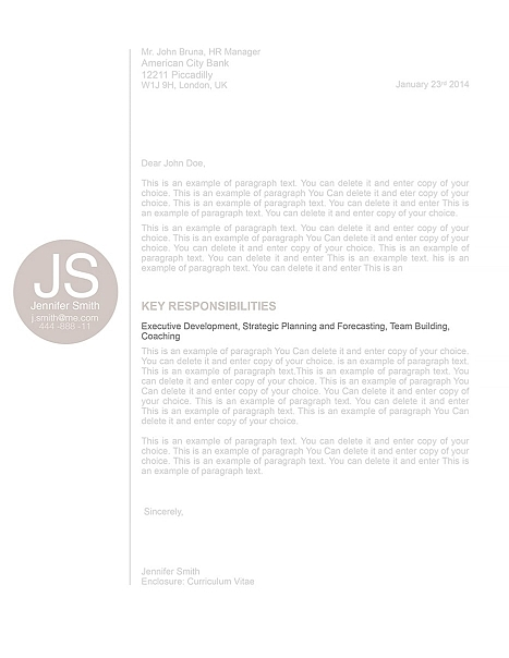 Cover Letter 110570
