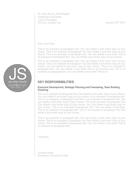 Cover Letter 110580