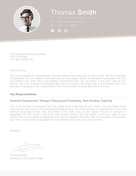 Cover Letter 110680