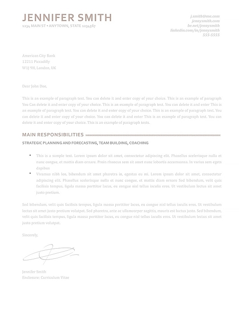 Cover Letter 110870