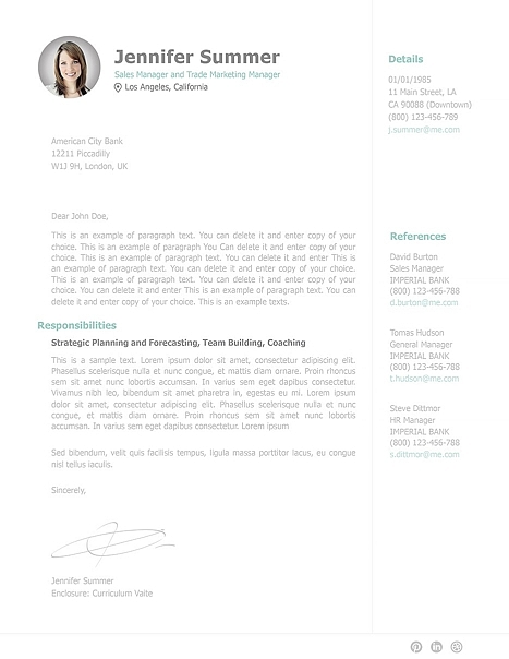 Cover Letter 110910