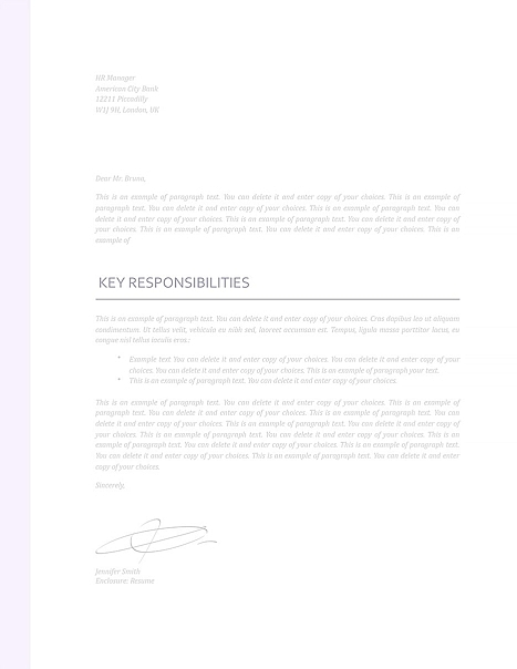 Cover Letter 110950
