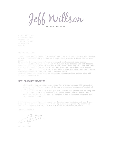 Cover Letter 120110