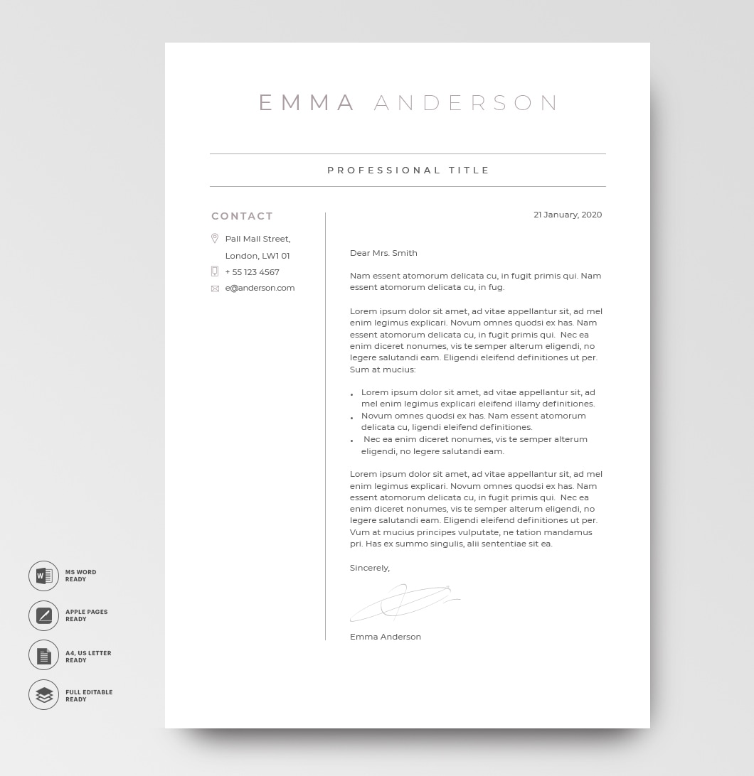 Cover Letter 120640